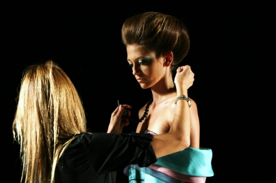 Detail of fashion shoot by fashion photographer Patricia Munster