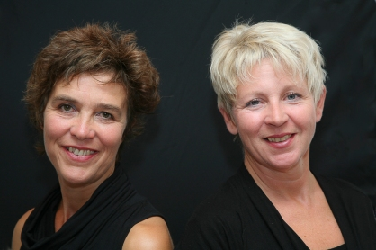 A duo portrait of two business women