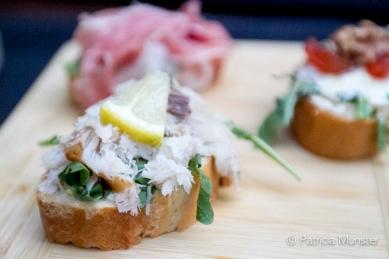 El Pueblo - Pintxos van de dag - Makreel met groene kruiden