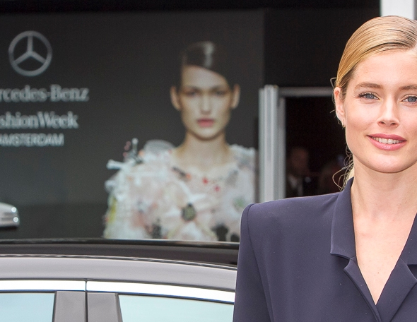Doutzen Kroes arrives at Amsterdam Fashion Week