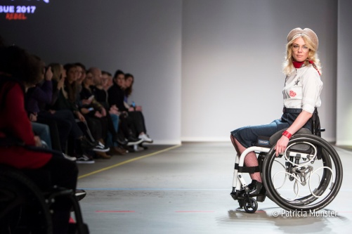 SUE wheelchair runway show