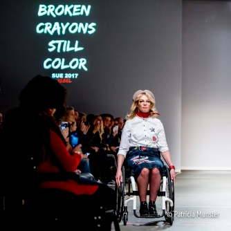Sue Online - wheelchair runway fashion show