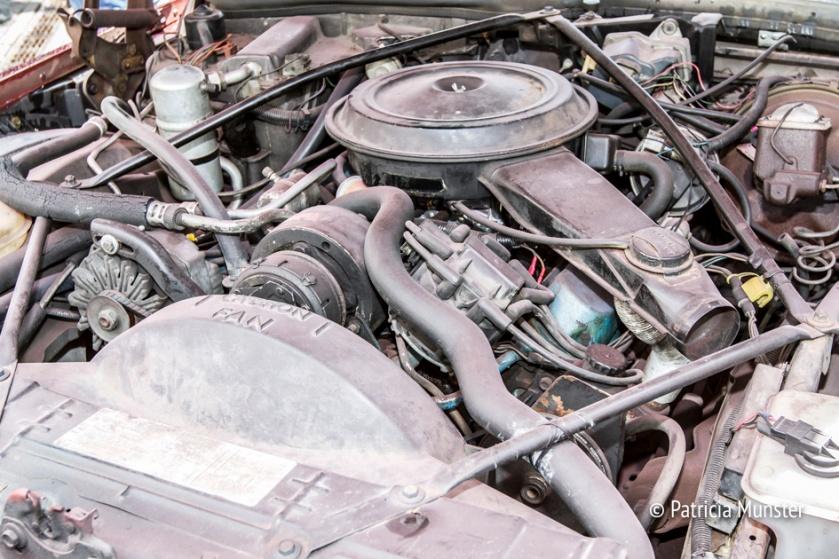 Detail van de motor