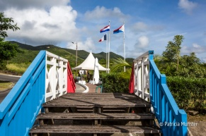 The border between the dutch and french part of Sint Maarten - French Quarter