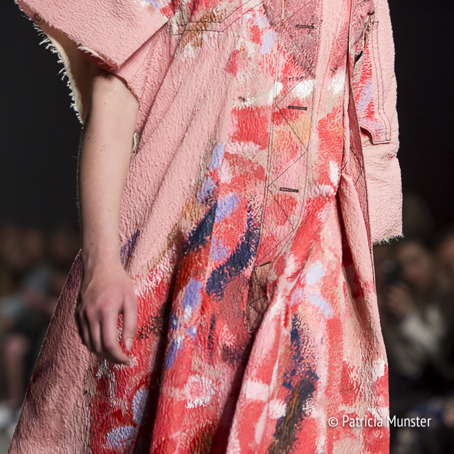 Detail of Atelier by Lotte van Dijk at Amsterdam Fashion Week
