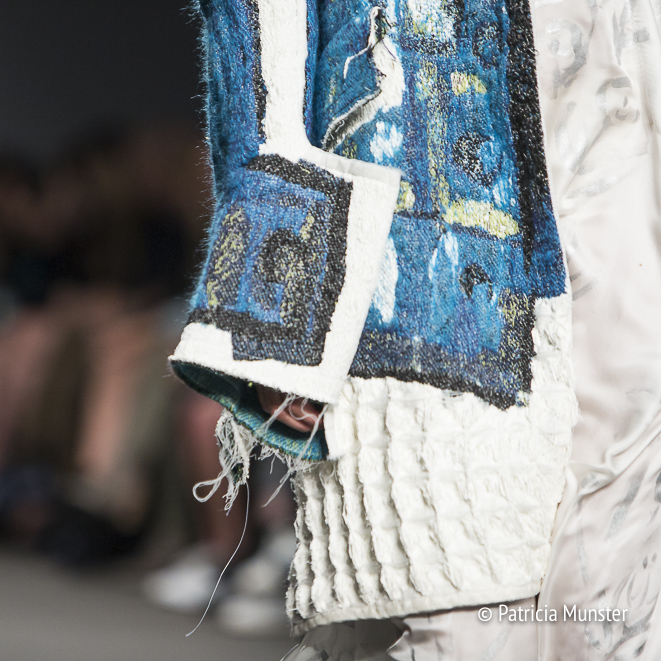 Handpainted detail - Atelier by Lotte van Dijk at Amsterdam Fashion Week