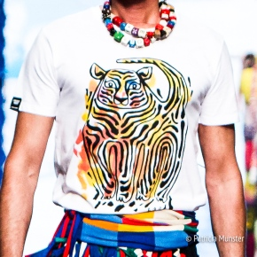 #Iprotecttigers T-shirt at Bas Kosters 'My paper crown' at Amsterdam Fashion Week