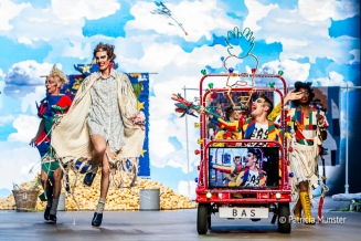 Party time at Bas Kosters 'My paper crown' at Amsterdam Fashion Week