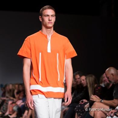 Orange shirt - Hacked by Van Slobbe Van Benthum at Amsterdam Fashion Week