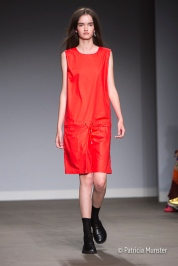 Red dress - Hacked by Van Slobbe Van Benthum at Amsterdam Fashion Week