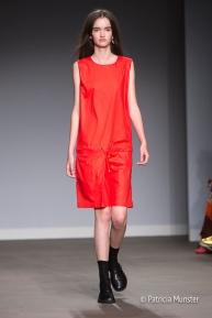 Red dress - Hacked by Van Slobbe Van Benthum at Amsterdam Fashion Week
