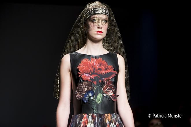 Flower dress by Maaike van den Abbeele at Fashionweek Amsterdam