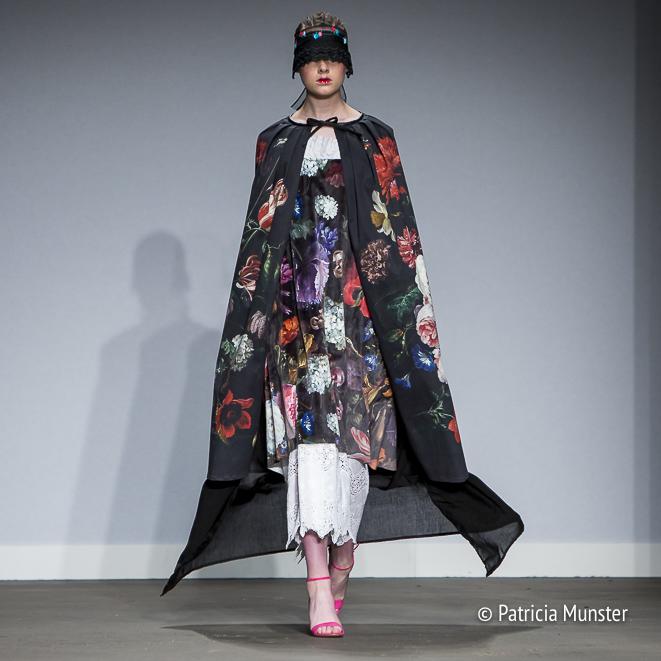 Flower dress by Maaike van den Abbeele at Fashionweek Amsterdam
