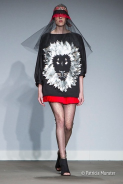 Lion pullover by Maaike van den Abbeele at Fashionweek Amsterdam