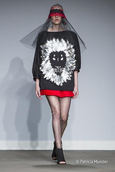 Lion pullover by Maaike van den Abbeele at Fashionweek Amsterdam
