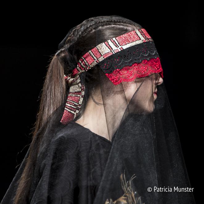 Detail at Maaike van den Abbeele at Fashionweek Amsterdam