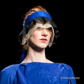 Close up at Maaike van den Abbeele at Amsterdam Fashion Week