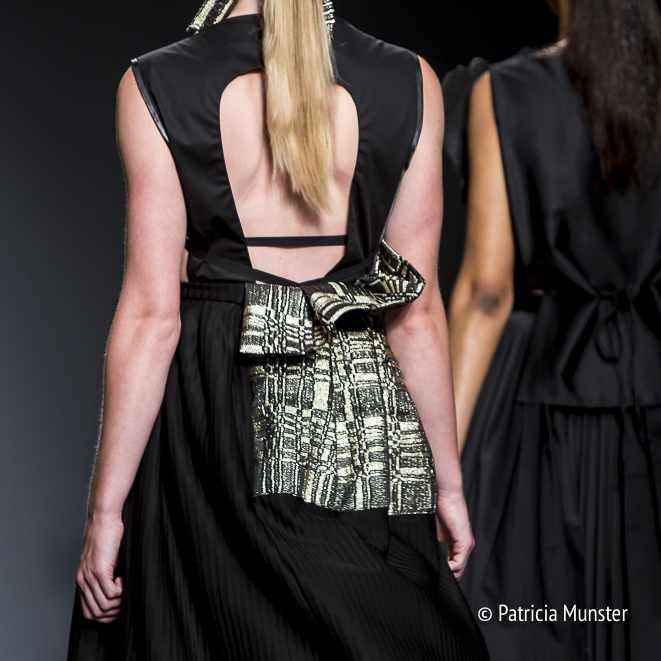 Detail at Maaike van den Abbeele at Amsterdam Fashion Week