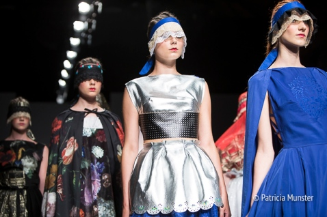 Silver 'armour' by Maaike van den Abbeele at Fashionweek Amsterdam