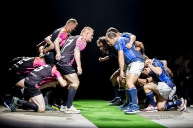 Rugby team at M.E.N. at Fashionweek Amsterdam