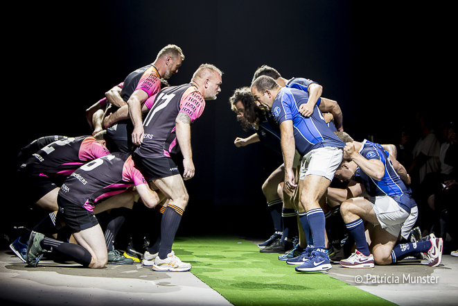 Rugby team at M.E.N. at Fashionweek Amsterdam