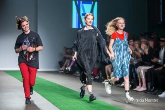 Maartje Janse, Elysanne Schuurman and Nikki Duijst at Amsterdam Fashion Week