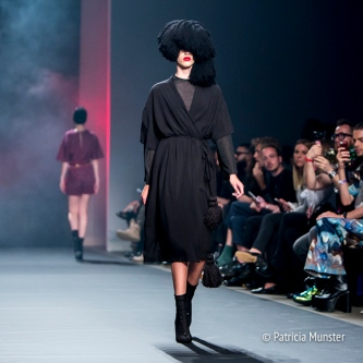 Black dress by Merel van Glabbeek at Amsterdam Fashion Week