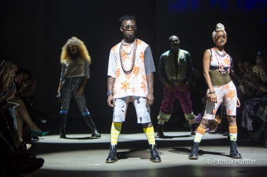 African dance moves at Sophia Bentoh show at Amsterdam Fashion Week