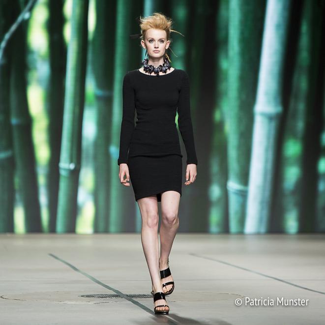 Tony Cohen SS18 little black dress at Amsterdam Fashion Week