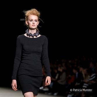 Little black dress by Tony Cohen SS18 at Amsterdam Fashion Week