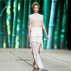 White lace dress at Tony Cohen SS18 - Amsterdam Fashion Week
