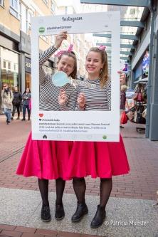Selfie met de gastvrouwen van het Stadshart
