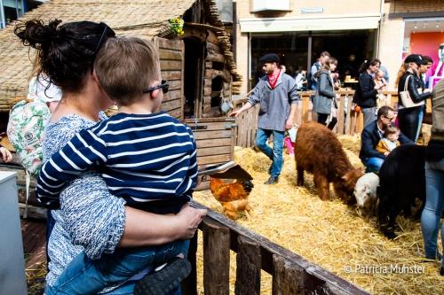 Genieten van boerderijdieren op het Promenadeplein in het Stadshart van Zoetermeer