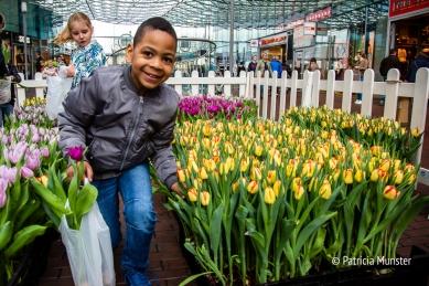 Even poseren bij de mooie tulpen!