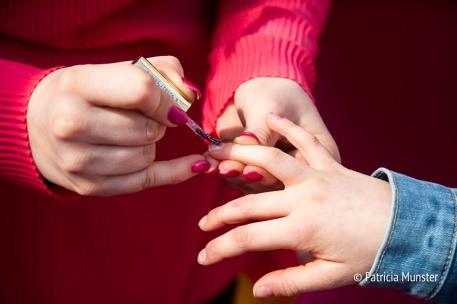 Roze nagellak