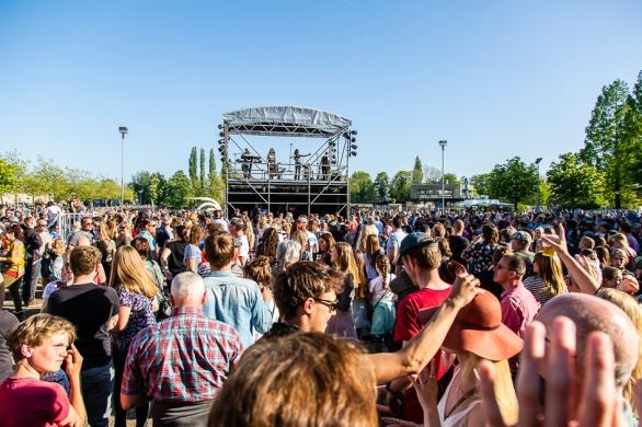 Veel publiek bij het festival