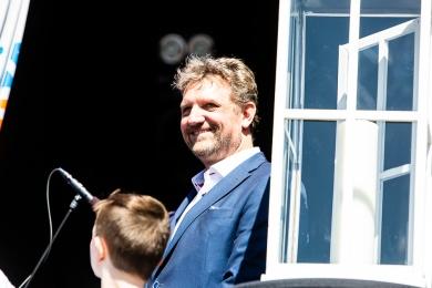 Ruud Steggerda, voorzitter van Floravontuur Zoetermeer, de stichting verzorgt traditiegetrouw het bevrijdingsfestival