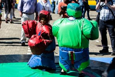 Activiteiten voor kinderen op het marktplein