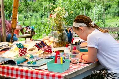 Creatief bezig zijn bij Patricia van de Green Hart Company