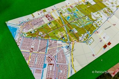Een plattegrond van het Bentwoud, aan de grens van Zoetermeer