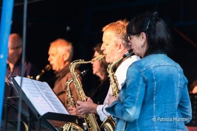 Saxofonisten op het talentpodium