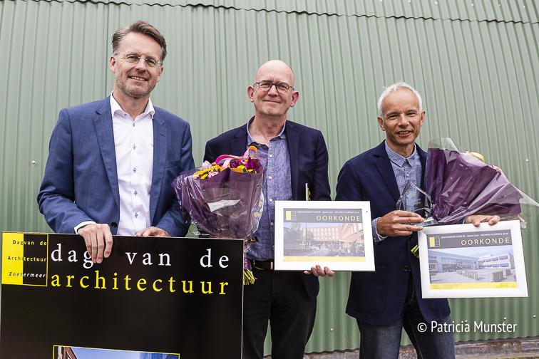Robin Paalvast - Gijs Tegelberg (winnaar architectuurprijs) - Ralph Goutier (winnaar publieksprijs)