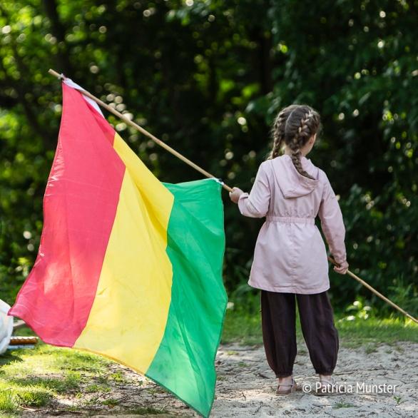 De vlag van de Rastafari