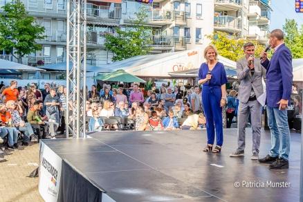 Ingeborg ter Laak, Viggo Waas en voorzitter van de jury Ed Bontrop