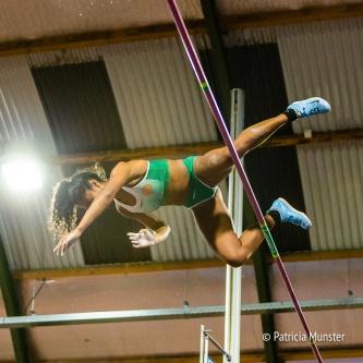 Nederlands kampioen outdoor polsstokhoogspringen Killiana Heijmans