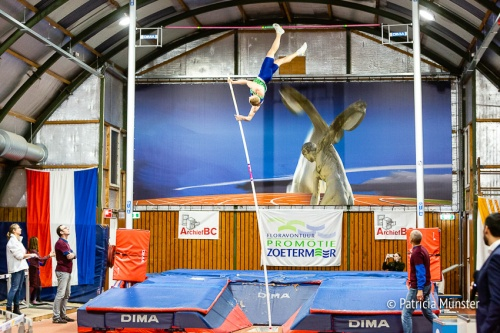 Menno Vloon in zijn poging om het Nederlands record te breken
